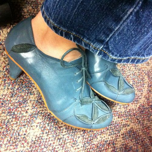 Aoki heeled oxfords